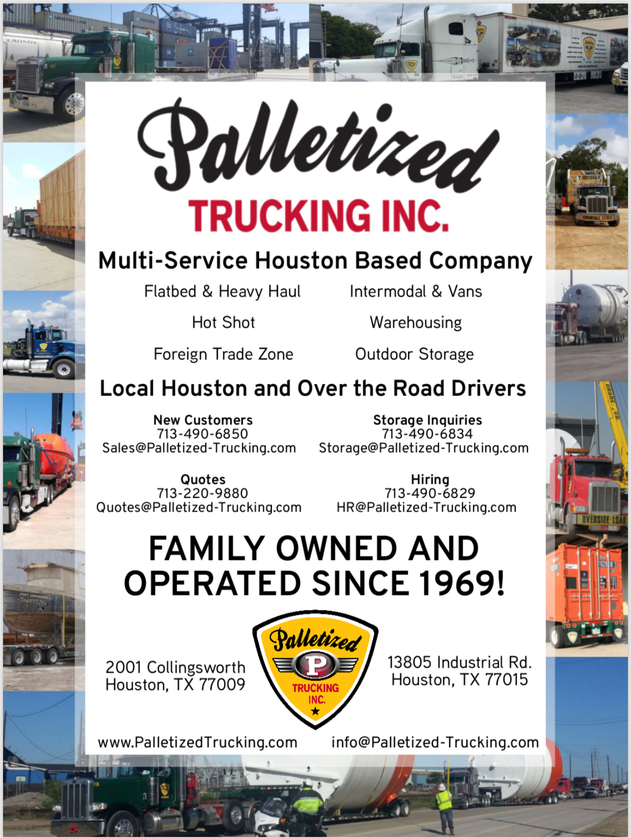 We are Committed to Safe Driving! / Palletized Trucking Inc